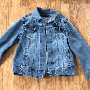 Jegging material jean jacket